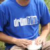 Drum Bum Logo T-shirt Blue